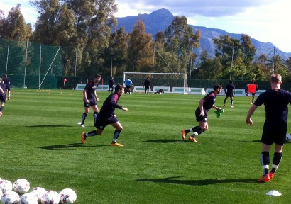 Burnley FC in a short training camp