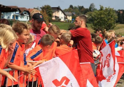 The Austrian national team at home in Styria
